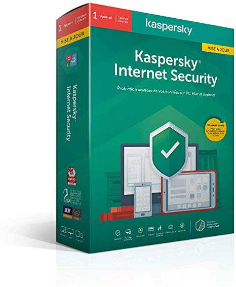 Kaspersky Internet Security 2020 1 Poste / 1 An